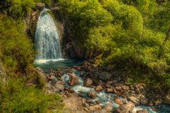 La cascata di Korbu Immagini Stock Libere da Diritti