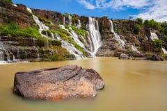 La cascata di Pongour, Lat del Da, Vietnam immagini stock libere da diritti