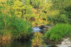 La cascata di riflessione nel lago Fotografia Stock Libera da Diritti