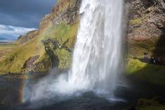 La cascata di Seljalandsfoss Fotografia Stock Libera da Diritti