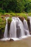 La cascata di Tad Pha Souam, Laos. Fotografia Stock