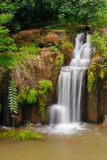 La cascata di Tad Pha Souam, Laos. Immagini Stock Libere da Diritti