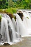 La cascata di Tad Pha Souam, Laos. Fotografie Stock