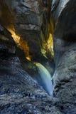 La cascata di Trummelbach è la più grande cascata in Europa, dentro Fotografia Stock Libera da Diritti