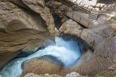La cascata di Trummelbach è la più grande cascata in Europa, dentro Immagini Stock Libere da Diritti
