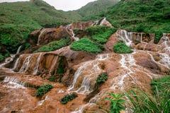 La cascata dorata Fotografia Stock Libera da Diritti