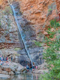 La cascata in Meiringspoort Fotografie Stock Libere da Diritti