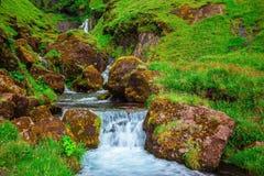 La cascata precipitante a cascata Fotografia Stock Libera da Diritti