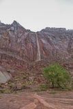 La cascata rossa della roccia Fotografie Stock Libere da Diritti