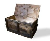 La casella di legno aperta immagini stock