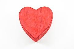 La casella rossa del cuore con è aumentato Immagine Stock Libera da Diritti