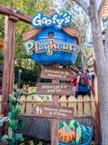 La casetta per giocare di Pippo in Toontown, Disneyland Fotografia Stock