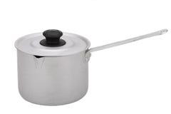 La casserole en aluminium avec la poignée Images stock