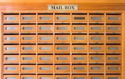 La cassetta delle lettere nell'hotel Immagine Stock