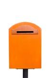 La cassetta postale arancione Immagine Stock Libera da Diritti