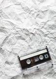 La cassette sonore se trouve sur le papier Image stock