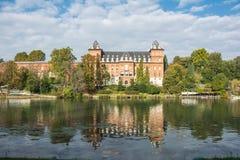 La caste sur le fleuve Pô, Turin Image libre de droits