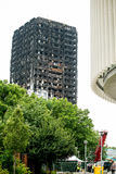 La catastrophe du feu de bloc de tour de Grenfell Photographie stock libre de droits