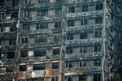 La catastrophe du feu de bloc de tour de Grenfell Photo libre de droits