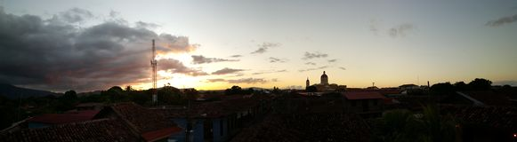 La Catédral de Granada Panorama Stock Image