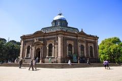 La catedral Addis Abeba, Etiopía de San Jorge r fotografía de archivo