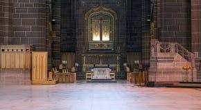 La catedral altera imagen de archivo libre de regalías