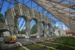 La catedral arruina Hamar Foto de archivo libre de regalías
