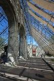 La catedral arruina Hamar Imagen de archivo libre de regalías