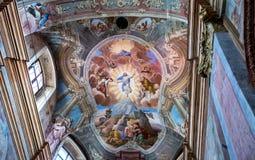 La catedral católica de la suposición de la Virgen María y del St Stanislaus en Mogilev belarus foto de archivo libre de regalías