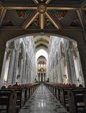 La catedral de圣诞老人・ MarAaa La Real de La Almudena 库存照片