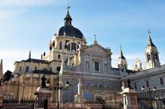 La catedral de Almudena en Madrid Foto de archivo