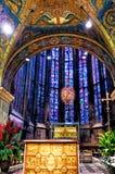 La catedral de Aquisgrán, Alemania La capilla de Aquisgrán era la iglesia de la coronación para treinta reyes alemanes y doce rei Imágenes de archivo libres de regalías