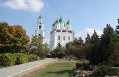 La catedral de Astrakhan fotos de archivo
