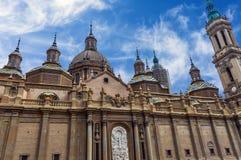 La catedral de la basílica de nuestra señora del pilar fotos de archivo libres de regalías
