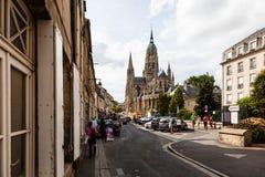 La catedral de Bayeux fotografía de archivo libre de regalías
