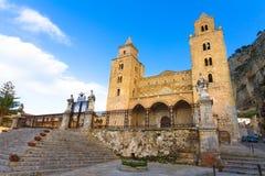 La catedral de Cefalu, Sicilia, Italia Imagenes de archivo