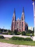 La Catedral de la Ciudad de La Plata, mà del por del vista foto de archivo libre de regalías