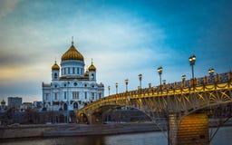 La catedral de Cristo el salvador en Moscú, Rusia Imágenes de archivo libres de regalías