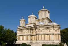 La catedral de Curtea de Arges Foto de archivo libre de regalías