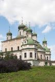 La catedral de Dormition del monasterio de Goritsky en Pereslavl-Z Fotos de archivo libres de regalías