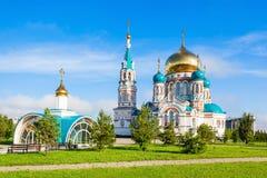 La catedral de Dormition, Omsk Fotografía de archivo libre de regalías
