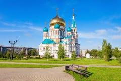 La catedral de Dormition, Omsk Imagen de archivo