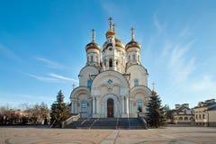 La catedral de la epifanía en Gorlovka, Ucrania imagen de archivo