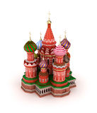 La catedral de la albahaca del santo en la Plaza Roja en Moscú, Rusia Fotografía de archivo