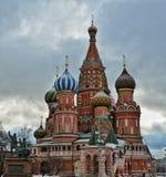 La catedral de la albahaca del santo, Moscú Foto de archivo libre de regalías