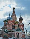 La catedral de la albahaca del santo, Moscú Fotografía de archivo libre de regalías