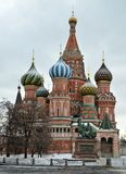 La catedral de la albahaca del santo, Moscú Fotografía de archivo