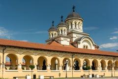 La catedral de la coronación de Alba Iulia Imagen de archivo