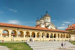 La catedral de la coronación de Alba Iulia Fotos de archivo libres de regalías