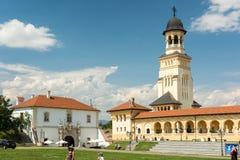 La catedral de la coronación de Alba Iulia Foto de archivo